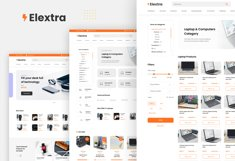 Elextra Electronic E-commerce Website Template Product Image 2