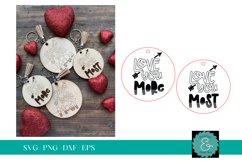 Love You More SVG, Love You Most SVG, Laser Keychain SVG Product Image 1