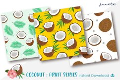 Coconut Seamless Pattern Fruits Background Product Image 2