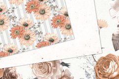 Peachy Floral Digital Paper Product Image 3