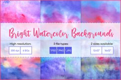 Watercolor Backgrounds, Sublimation Watercolor Texture PNG Product Image 1