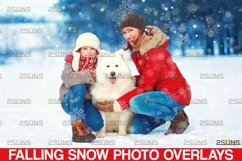 Winter overlays, Snow white clipart, Snow overlay Product Image 1