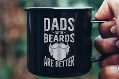Retro Beard Dad Print / Vintage Fathers Day TShirt SVG File Product Image 3