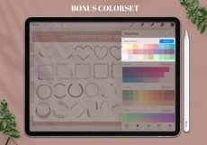 30 Floral Wreath Brush for Procreate, Flower Brushes Stamps Product Image 3