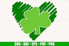 Shamrock Heart SVG files for Cricut, Heart Clover SVG Product Image 2
