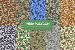 India Polygon Camouflage Patterns Product Image 1