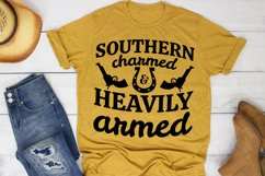 Southern Charmed And Heavily Armed SVG Southern Farm Girl Product Image 1