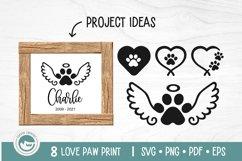 Paw Print SVG Cut Files - Love Dog Paw SVG Bundle Product Image 4
