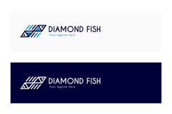Diamond Fish - Abstract Geometrical Fishes Stock Logo Product Image 2