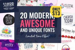 20 Awesome Fonts Only $13 Product Image 1