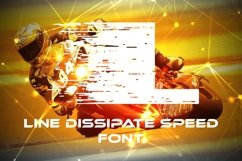 Line Dissipate Speed Font Product Image 1