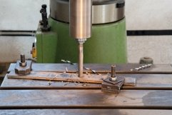 Drilling machine in the working process. Metalworking Product Image 1