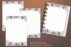 Printable writing paper lined dotted blank insert. A5 size Product Image 3