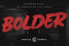 BOLDER - Smallcaps SVG Brush Font Product Image 1