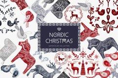 Nordic Christmas Clip Art Dala Horse Swedish Design Product Image 1