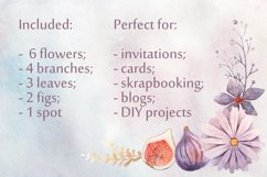 Watercolor Floral Clip Art Product Image 3