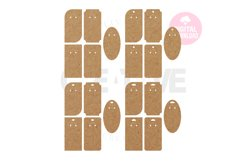 20 Templates Key Ring Display Card | Keychain card| EDC005 Product Image 3