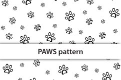 Color paws seamless pattern Product Image 2