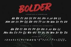 BOLDER - Smallcaps SVG Brush Font Product Image 2