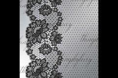 27 Black Lace Border Frame Overlay Transparent Images PNG Product Image 6