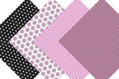 Pink and Black Digital Paper - Bohemian Product Image 3