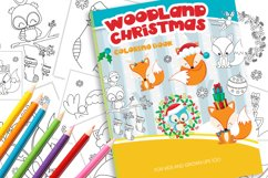 Christmas Woodland Coloring Book Product Image 1