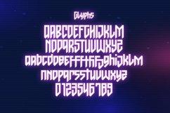 Web Font Gaxter - Cyberpunk Font Product Image 2