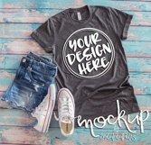 Gray t shirt mock up 6478 Product Image 2