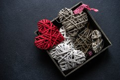 Valentine day holiday card concept with hearts Product Image 1