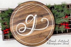 Hand Lettered Monogram Font - Perfect For Personalization! Product Image 1