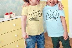 Cat svg Cute cat svg Product Image 5