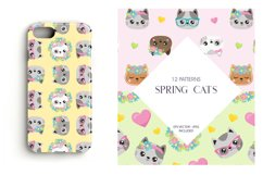 Spring Cats Patterns and illustrations, vector Product Image 4