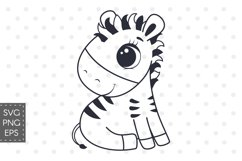 Cute Zebra, SVG, PNG, EPS Product Image 1