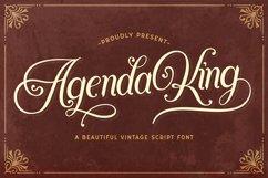 Agenda King - Vintage Script Font Product Image 1