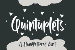 Web Font Quintuplet - Handlettered Font Product Image 1