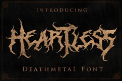Heartless - Most Wanted Deathmetal Font Product Image 1