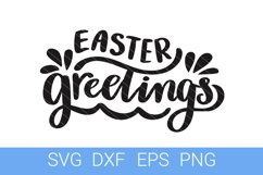Easter Greetings SVG file, Hand Lettering Product Image 1
