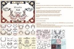 Huge vector flourishes Bundle! More than 500 elements Product Image 4