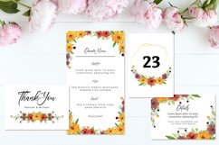 Lovely Yellow Brown Rustic Floral Wedding Invitation Suite Product Image 3