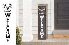 10 Porch door winter signs bundle, welcome signs, reindeers Product Image 2