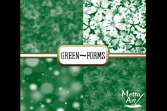 Green Forms - 10 Digital Papers/Backgrounds Product Image 2