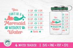 Unicorn / Mermaid / Fairy / Cat / Water Tracker SVG Cut File Product Image 4