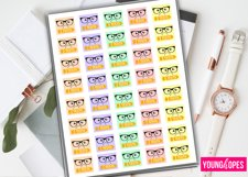 Kawaii Test Planner Stickers Product Image 1