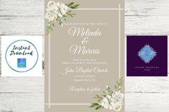 White and Cream Wedding Invitation Product Image 5