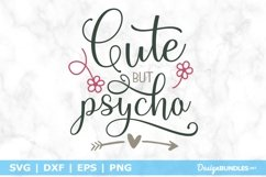 Cute but psycho SVG File Product Image 1
