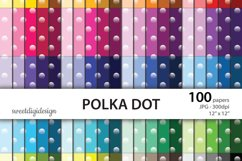 Ombre polka dots digital paper Product Image 1