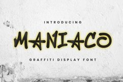 Web Font Maniaco Font Product Image 1