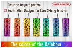 21 Realistic Leopard Patterns for 20oz SKINNY TUMBLER. Product Image 1