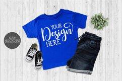 Bundle 11 T-Shirt Toddler Mockup Bella Canvas 3001T Flat Lay Product Image 5
