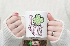 LOVE Pink St Patrick's Day Dye Sublimation PNG Design Product Image 3